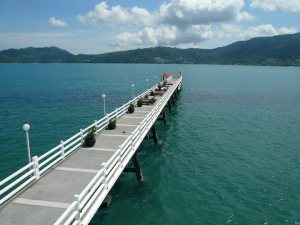The jetty at the Amari Phuket
