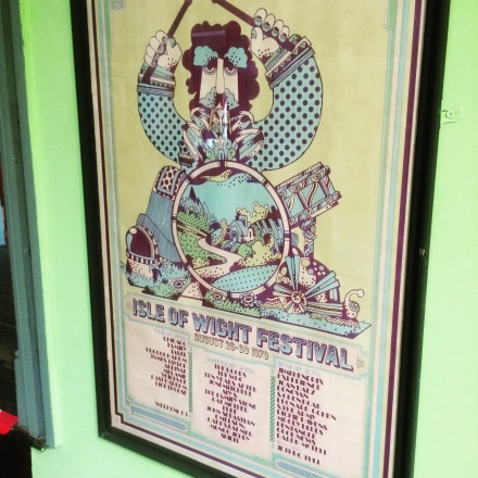 Original 1970 poster for the Isle of Wight Festival