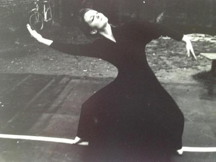 Me dancing at Merton Abbey Mills just after uni.
