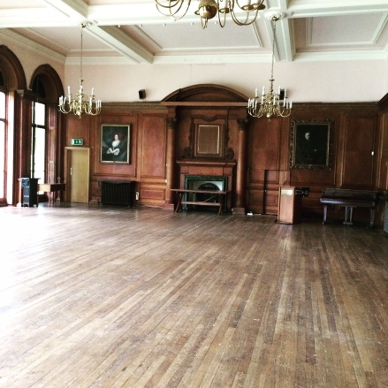 The Portrait Room at Froebel College - used to be the bar, now saved for Strictly...
