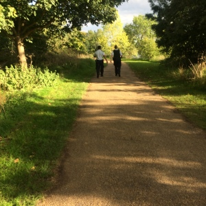 PCs Whitaker and Lau walking ahead of me after the second call-out. Thames Path.